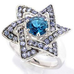 em Treasures® Sterling Silver 1.72ctw London Blue Topaz & Tanzanite Ring - 145-401  Retail Value:  $230.00 EVINE Price:  $177.50 Celebration Price: $146.71   Save: $30.79 (17% off)  or  6   ValuePay®:    $24.45 Shipping & Handling: $6.99 Gem Treasures® Sterling Silver 1.72ctw London Blue Topaz & Tanzanite Ring