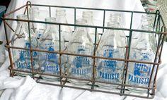 10 Garrafas Antigas Leite Paulista 1 Litro Vidro Engradado - R$ 1.200,00 no MercadoLivre