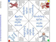 Human Body Systems Cootie Catcher