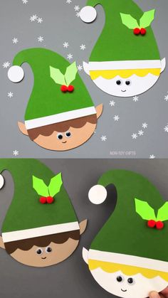 christmas crafts videos Paper elf craft for preschoolers, kindergartners and older kids. Elf craft template available. Easy paper Christmas craft for the classroom. Preschool Christmas Crafts, Christmas Arts And Crafts, Winter Crafts For Kids, Holiday Crafts, Fun Crafts, Simple Christmas, Christmas Time, Christmas Crafts For Kids To Make At School, Christmas Crafts For Preschoolers