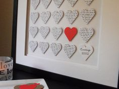 Very personal gift, love this idea, so creative. Put in your favorite lyrics, from the first song you had your first kiss to, or first dance at your wedding, or any favorite quotes