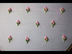 Embroidery Designs Hand Embroidery - Brazilian Embroidery - Bullion Knot Rose Embroidery Hello, friends welcome to crafty creations. Hand Embroidery Videos, Embroidery Flowers Pattern, Embroidery Monogram, Simple Embroidery, Rose Embroidery, Hand Embroidery Stitches, Learn Embroidery, Silk Ribbon Embroidery, Embroidery For Beginners