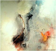 "mixed-media painting  'SYNCHRONICITY' 72X72X3"" c/girard louis drouillard"