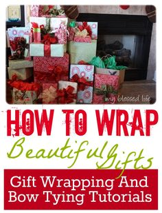 How To Wrap Beautiful Gifts -- and her cute Southern accent is fun to listen to!! via @Myra of My Blessed Life