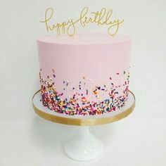 Love this cake...maybe I'll have my cake lady make it for Londons birthday #simple_cake_decor