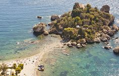 Isola Bella, Sicilië, Italië