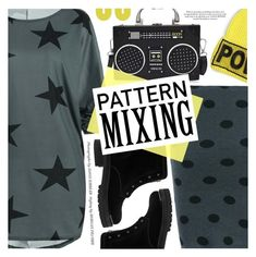 """Pattern Mixing"" by pokadoll ❤ liked on Polyvore featuring Alexander McQueen, Versace and Uncommon Matters"