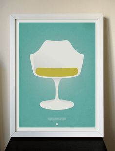Mid-Century Modern Icons by One Little Bird. So clean and bright. $30.45