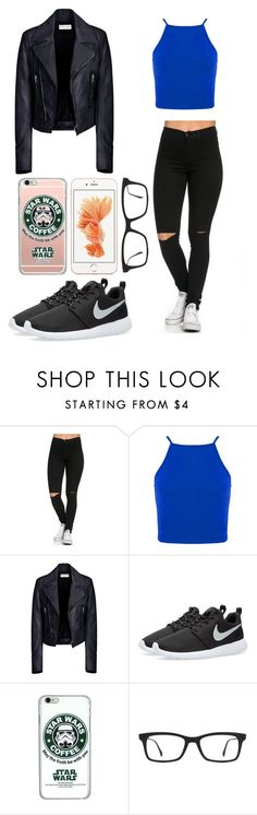 """""""Untitled #475"""" by caka-1 ❤ liked on Polyvore featuring Balenciaga, NIKE and Ray-Ban"""