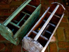 Rustic Tool Caddy Box - Dividers - Cottage Chic, French Country - Handmade Reclaimed Wood on Etsy, $175.00