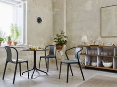 Belleville Armchair Plastic | Belleville Chair Plastic | Belleville Table Bistro - A hybrid family of furnishings whose forms and materials are harmoniously coordinated.