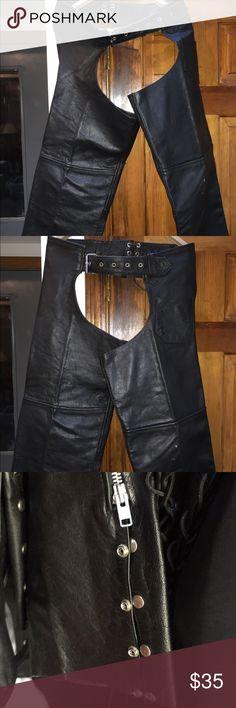 Leather chaps, waterproof adjustable Comfortable, adjustable and waterproof protech Other