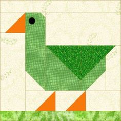 QDNW Patch Duck block pattern