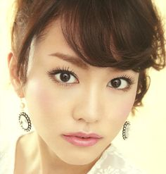 Model / Mirei Kiritani. Fasio by kose (Japan Cosmetics company). Girly make up.