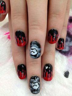 Blood drip nails by David