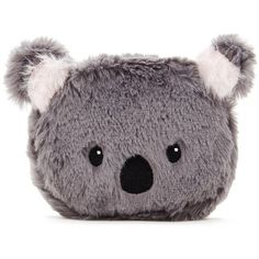 Forever21 Plush Koala Coin Purse (€5,64) ❤ liked on Polyvore featuring bags, wallets, coin pouch, coin pouch wallet, zip top bag, forever 21 wallets and forever 21 bags