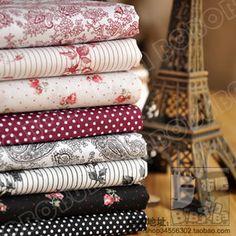 wmz015水墨胭脂 8色花布组棉布 外贸进口余单布头 手工DIY布料