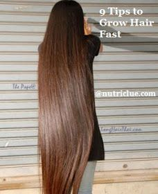 9 Tips to Grow Hair Fast