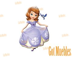 Lámpara infantil 3D para pared Funny Light Princesita Sofía  www.gotmuebles.mx