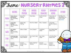 Tot School: Nursery Rhymes - Mrs. Plemons' Kindergarten
