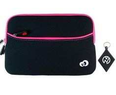 Samsung Galaxy Tab (7 Inch Tablet) Black Neoprene With Magenta Zipper Outside Pocket For Extra Accessories. Includes NuVur ™ keychain. (MDK2G2M1) by Kroo. $7.50. Protect your investment from minor bumps, scratches and debree with this one of a kind sleeve case, made from the finest quality materials with Style and Durability in mind. Fits your Samsung Galaxy Tab 7 inch Tablet. Includes NuVur ™ keychain.