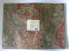 Ralph Lauren PLACEMATS Set of 4 NWT Ashbourne Paisley Camel 14x19 Thanksgiving #RalphLauren