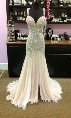 formal evening dress on sale at reasonable prices, buy Sexy Luxury Crystal Mermaid Long Formal Evening Dresses 2017 Elegant Beaded Sweetheart Prom Gowns Evening vestido de festa from mobile site on Aliexpress Now! Ivory Prom Dresses, Backless Prom Dresses, Pageant Dresses, Homecoming Dresses, Bridesmaid Dresses, Formal Dresses, Wedding Dresses, Dress Prom, Party Dress