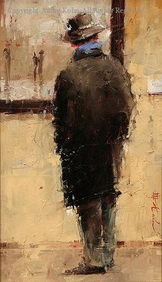 A Connoisseur - Oil by Andre Kohn