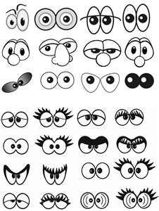 Sólo ojos.