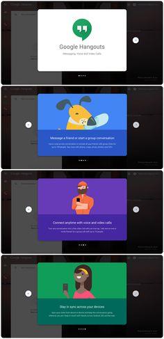 New Google Hangouts onboarding slider