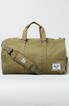 The Novel Duffle Bag in Army by HERSCHEL SUPPLY http://www.karmaloop.com/product/The-Novel-Duffle-Bag-in-Army/249222