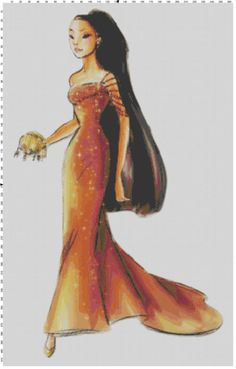 Small Size Disney Designer Princess Doll Pocahontas Cross Stitch Pattern PDF (Pattern Only) on Etsy, $5.00