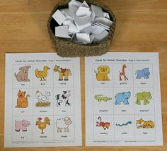 Free printable animal charade game. Great way to get out the wiggles when it's cold outside.