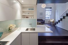 Manhattan Micro Loft. More pictures: http://www.worldofarchi.com/2013/03/small-apartment-design-for-upper-west.html