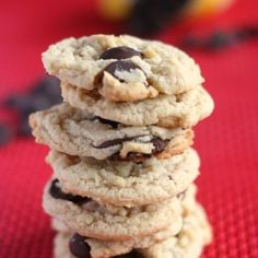 Chocolate Chip Cookies without Eggs!  from JensFavoriteCookies.com  You won't even miss the eggs when you use this secret ingredient!