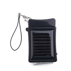 Portable Solar Powered Keychain External Rechargeable Battery Pack for iPhone 4/3GS/3G (Black) - GBP £ 5.03