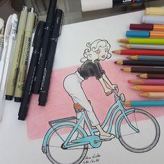 Mais uma arte de férias: #celebridades #vintage #ciclista