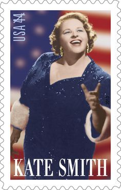 "Kate Smith! The celebrated singer and entertainer's signature song, ""God Bless America"" (composed for her by Irving Berlin), has been called America's unofficial national anthem. ""This is the greatest song Irving Berlin has ever composed,"" she pronounced after her first performance of it. ""It will never die. Others will thrill to its beauty long after we are gone."""