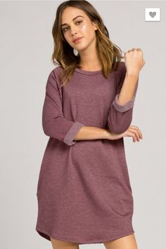 Throw on this tunic with leggings or skinny jeans for an effortlessly adorable look. The wine pocket tunic will be one of your favorite fall items. Its super so