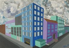 Perspektive mit 2 Fluchtpunkten: Hochhäuser