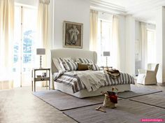 Comely Scheme For Contemporary White Broun Roche Bobois E Bedroom Design And Style Poster - http://www.bedroomdesignz.com/bedroom-decorating-ideas/comely-scheme-for-contemporary-white-broun-roche-bobois-e-bedroom-design-and-style-poster.html