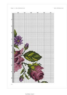 Fair Isle Pattern, Prayer Rug, Cross Stitch Flowers, Purple Roses, Cross Stitch Embroidery, Cross Stitching, Needlework, Model, Pink Tablecloth