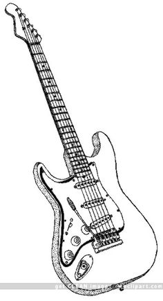 Electric Guitar Drawings