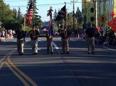 2014 Tour de Terrace Parade lead by Mountlake Terrace American Legion Post 234 Honor Guard Mountlake Terrace, American Legion Post, Honor Guard, Street View, Tours