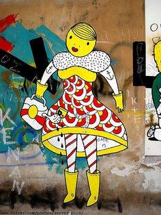 B. - street artist