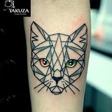 geometric cat tattoos - Google Search