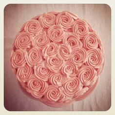 lovely piped rose cake