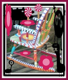 funky+hand+painted+kid+size+rocking+chair+by+ThePaintedChairShop,+$135.00