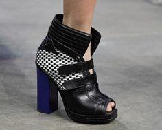 Proenza Schouler Woven Paneled Leather Ankle Boot $2 589 Runway Fierce Chic | eBay