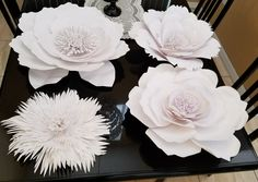Paper flowers - card stock